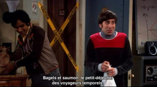 bagel saumon howard big bang theory